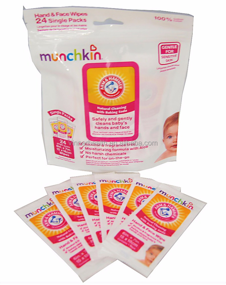 Munchkin Supplier OEM Manufacture Soft Skin Baby Wipe and Baby Organic Hand and Face Wet Wipe