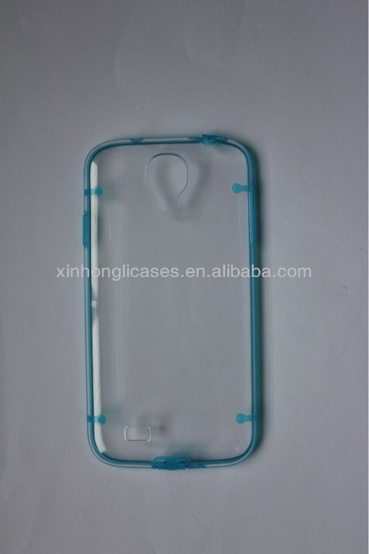 Ultra-thin Clear/Transparent Bumper Case Skin PC Frame For samsung galaxy s4