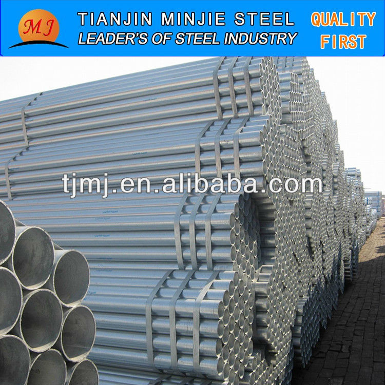 Thin Wt Galvanized Pipe Size For Iran Market For Contruction Price Per Ton Professional Manufacturer China