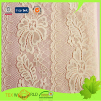 polyamide elastane jacquard yellow lace fabric in rolls