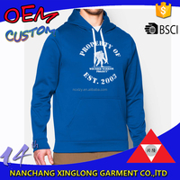 Mens printed with front kangaroo pocket heavyweight cotton hoodies