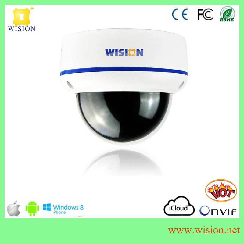 Hot selling P2P HD network video camera,support remote view by mobile, NVR support,h.264 network video surveillance system