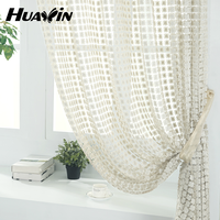 100% polyester luxury water soluble embroidery curtain design for home