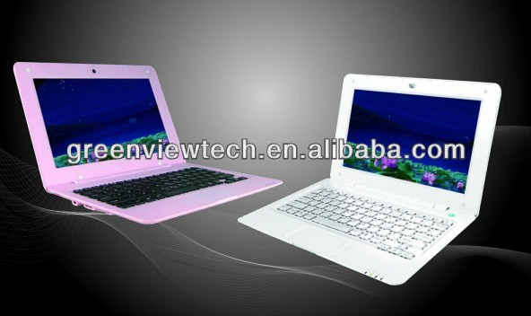 "mini laptop in bulk with 10"" TFT LCD android 4.2.2 8GB 1.5GHz DDR 1GB WIFI 1024x600 pixels"