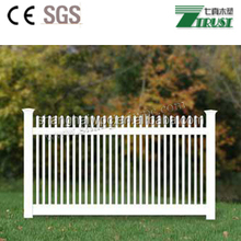 High privacy white plastic picket weave fencing cheap vinyl fence with top picket