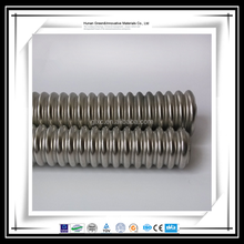 Heat resistant 304 316L stainless steel corrugated metallic flexible hose pipe