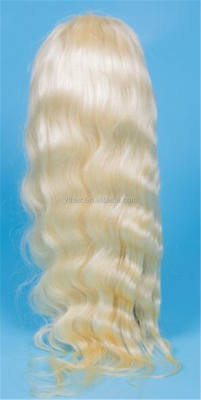 Luxury quality 2016 top selling products wholesale 613 blonde full lace wig for white people