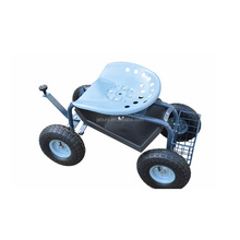 Blue 150kg rolling garden wagon cart