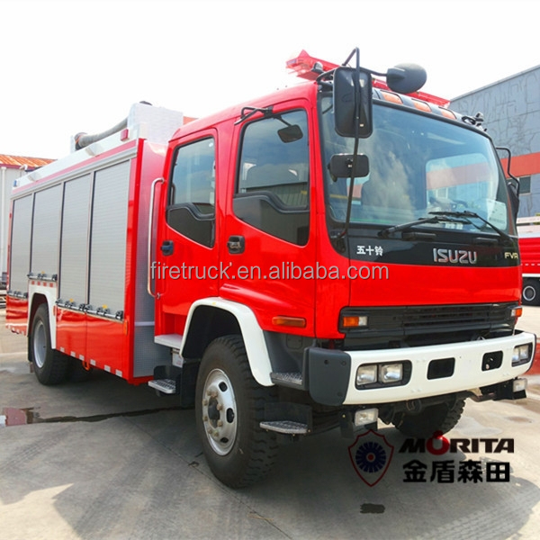 4x2 drive 8000 liter water and foam fire engine truck 8T