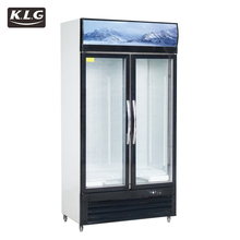 LC/S 1000HK used glass door display freezers drink cake drug fridge Upright Commercial Double Glass Door cooler