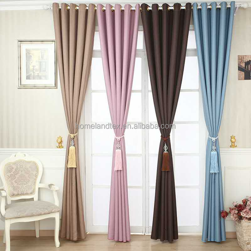 Home Curtain 100% Polyester Linen Look Fabric