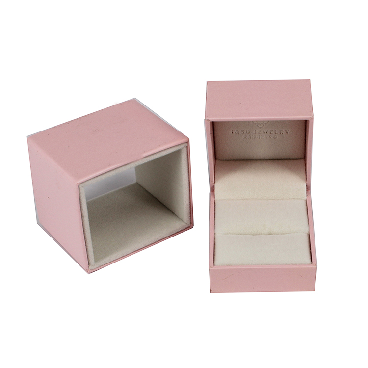 Yilucai Special Paper Cover Plastic Ring Jewelry Box With Sleeve