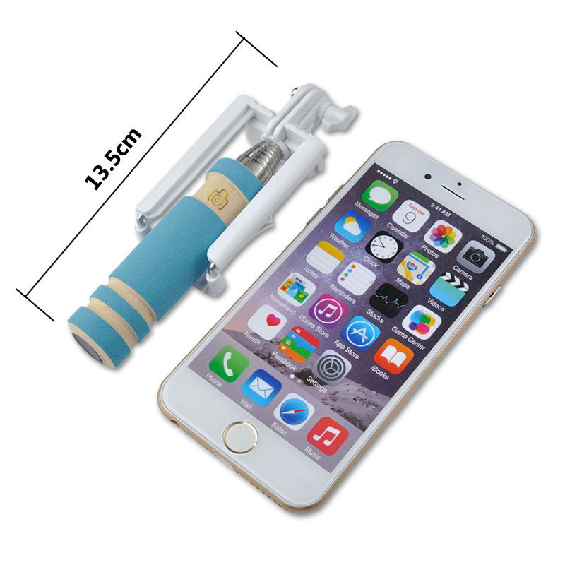 Cute mini selfie stick ,Fasion wired selfie stick for iphone .take it go whenever and whereever .