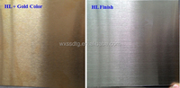 Bronze hairline finish 304 stainless steel sheet / stainless steel bronze sheet / hairline copper bronze decorative sheet