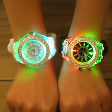 tide candy color light kid sport quartz students children men China oem luminous silicone LED water proof jelly watch led women