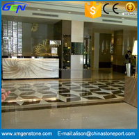 Interior Modern Design Natural Polished Crystal Bianco White Marble