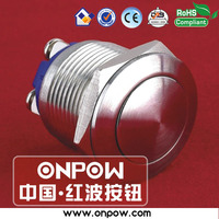 Since 1988 high qualified ONPOW 19mm CE, ROHS vandal proof stainless steel metal pushbutton switch