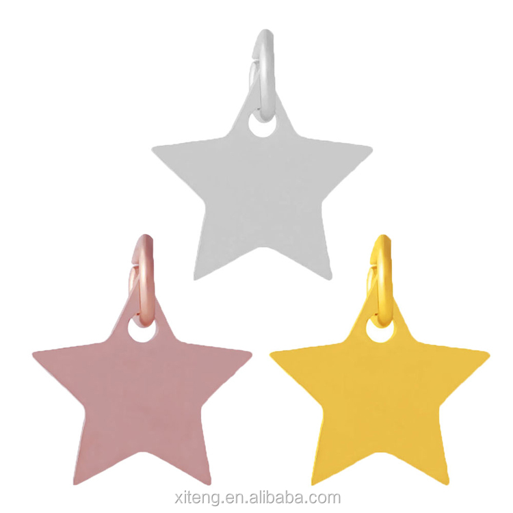 high quality high polished stainless steel stars charms pendant fit jewelry handmade crafts