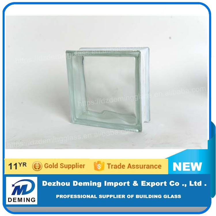 Factory Clear Glass Block Colored Patterned Glass Brick