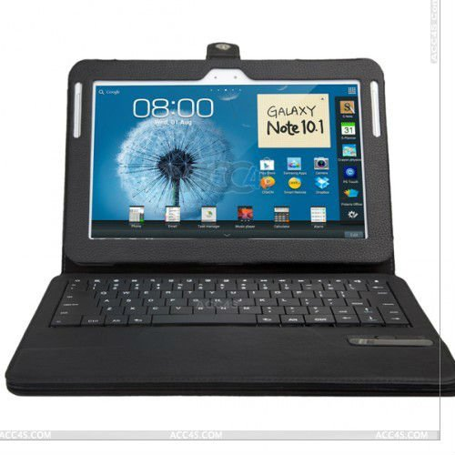 High quality leather case with detachable bluetooth keyboard for SAMSUNG galaxy note 10.1 N8000 P-SAMNOTE10CASE005