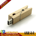 2015 Novelty Wooden Clip USB Drive 256MB