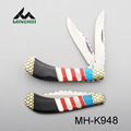 colorful white shell 2 blade knife lock back knife