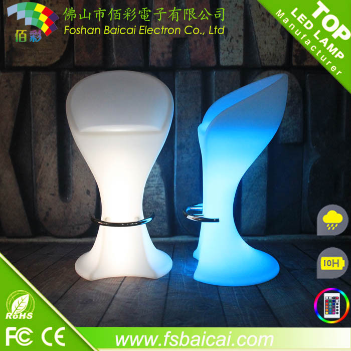 LED Plastic Stool Bar Chair/LED Furniture/LED Bar Chair FOR Coffee Shop