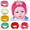 New Style Baby Headband Beads Crown Knot Wool Knitted Headband