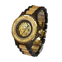New Arrival Mechanical Wooden Watch 2017 Good designed Luxury Wooden Watchs Custom Wrist Watch for Women and Men