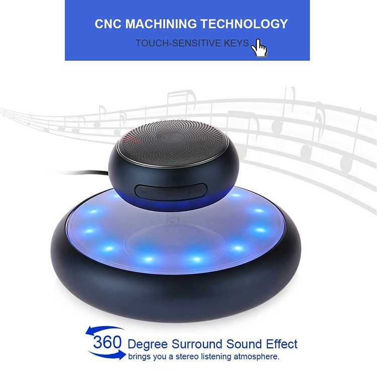 Hot Selling Wireless Floating Speaker Magnetic Levitation Bluetooth 4.1 Speaker with Automatic Wireless Charging