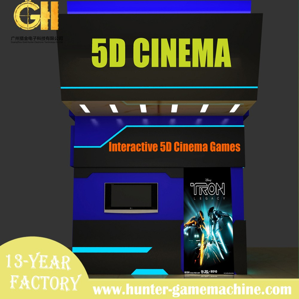 Gold hunter amusement scenic spot hottest movable cabin mobile 5d cinema