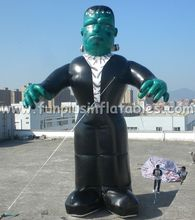 Inflatable monster/wizard ground ablloon for Halloween decoration P4013