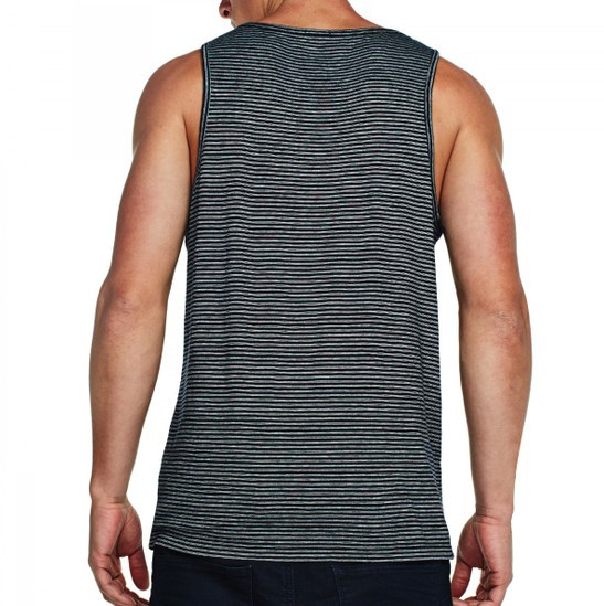 wholesale custom singlet 100% cotton stripe design tank top