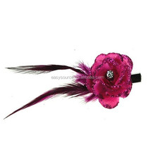 2014 new style feather accessory hair jewelry ornaments lace crystal hair clips
