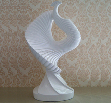 Fashion crafts abstract swan statue