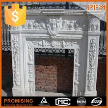 latest natural best price marble made artifical chimney piece