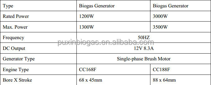 Hot sale small biogas electric generator