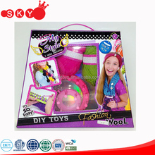 Kid's intelligent toys diy knitting wool toys cheap diy knit weave easy knit wool toy