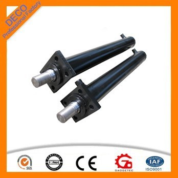 flanged/bronze bushing/bearing type hollow hydraulic cylinder piston small hydraulic cylinder piston rod hydraulic jack