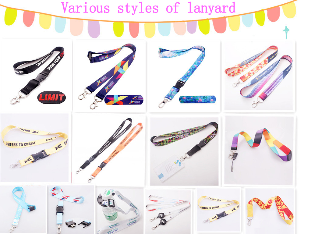 Keychain Accessories Gift Custom Jacquard Logo Short Band Wholesale Free Sample
