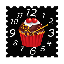 square acrylic logo printing kids return gifts clock for birthday