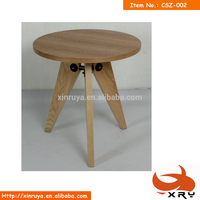 round soild wooden dining table with veneer top board