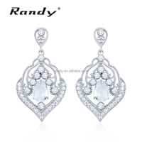 Latest Fashion Earring Clear Stone Brass Main Material Jewellery Ear ring