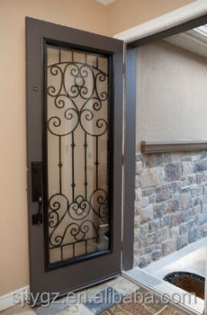 New Wrought Iron French Single Door Inserts Design