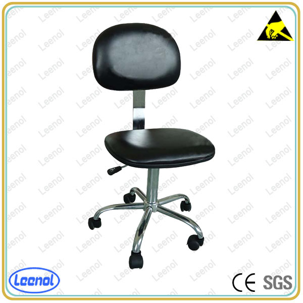 LN-5110 series PU Leather esd chair /ESD Industrial PU Foam Chair with Footrest ring Factory