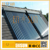 Durable Direct Flow Heat Pipe Mini Evacuated 24Tube Solar Collector