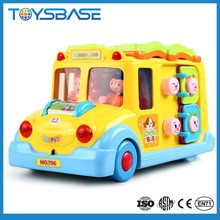 top sale new fashion car with music and light yellow school bus toy