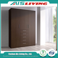 Melamine MDF Plywood Large Wardrobe Armoire