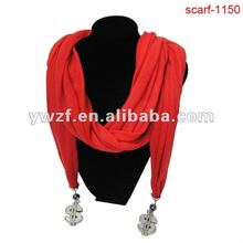 metal decorative pendant jeweled scarves