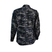 Digital Marine Navy Camouflage Pattern Fashion Men Jacket Simple BDU Style